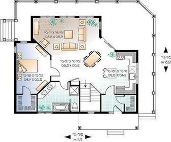 Planos de casas con una arquitectura moderna arquitexs for Distribucion de una casa de una planta